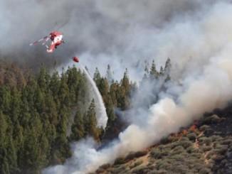На Канарських островах, через лісові пожежі довелося евакуювати понад 2000 осіб