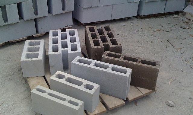 Види бетонних блоків, що використовуються в будівництві