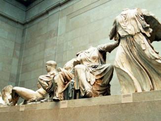Фрагменти мармуру з Парфенона в Британському музеї